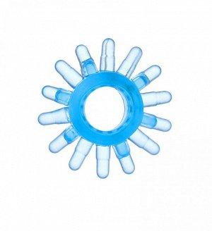 """Эрекционное голубое кольцо на пенис """"Солнце"""""""