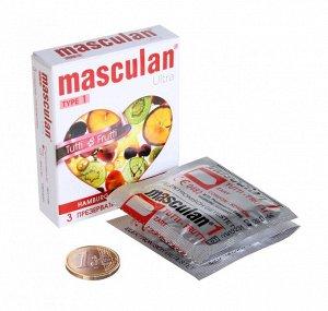 "Презервативы Masculan ULTRA тип 1 ""ТУТТИ-ФРУТТИ"" (3 шт.)"