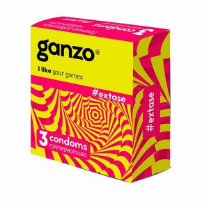 Презервативы GANZO  EXTASE No3 Точечно-ребристые