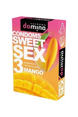 Гладкие презервативы Luxe DOMINO SWEETSEX со вкусом манго (3 шт)