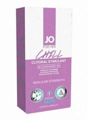 Клиторальный возбуждающий гель с охлаждающим эффектом мягкого действия Chill (10 мл)