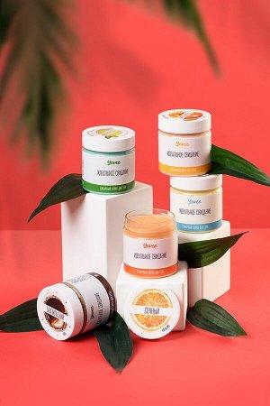 Скраб для тела «Освежающий» с ароматом зелёного чая и мяты (200 г)