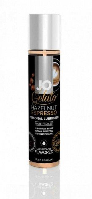 Вкусовой лубрикант на водной основе JO Gelato Hazelnut Espresso (эспрессо с лесным орехом) 30 мл