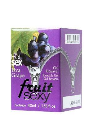 Разогревающее съедобное масло для массажа с ароматом винограда FRUIT SEXY (40 мл)
