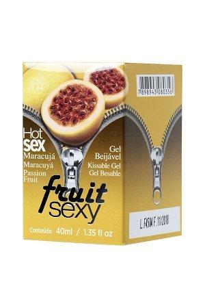 Разогревающее съедобное масло для массажа со вкусом маракуйи FRUIT SEXY (40 мл)