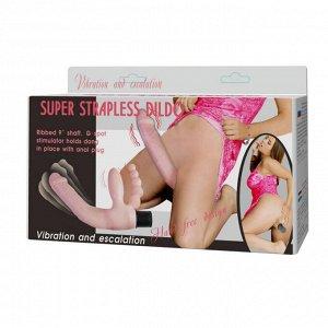 Безремневой страпон с вибрацией Super Strapless Dildo