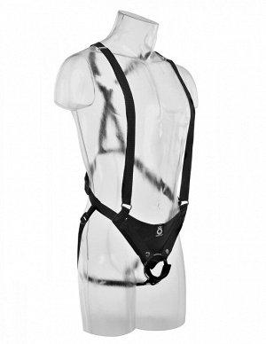 Страпон-система (страпон-трусики на подтяжках с фаллопротезом) 10'' Hollow Strap-On Suspender System