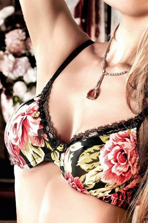 Бюстгальтер в цветочек на косточках 36 D