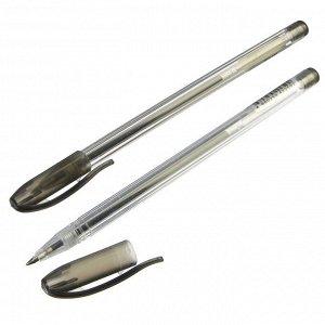 Ручка гелевая черная, 14,9см, наконечник 0,5мм, пластик