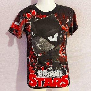 Светящаяся футболка «Brawl stars» Ворон  черная