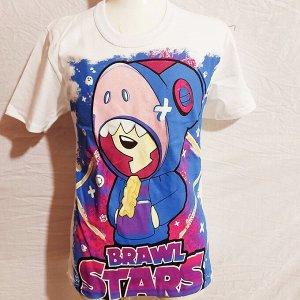 Светящаяся футболка «Brawl stars»  белая