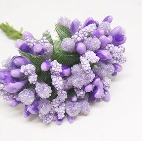 Букетик декоративный в обсыпке, Фиолетовый