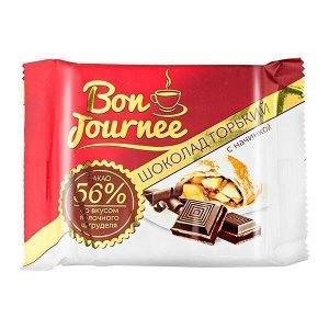 Шоколад Спартак Bon Journee Горький 56% с начинкой со вкусом яблочного штруделя 80 г