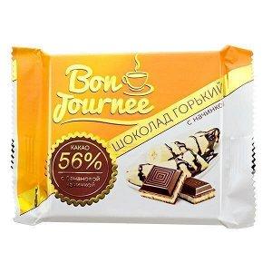 Шоколад Спартак Bon Journee Горький 56% с банановой начинкой 80 г