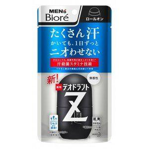 Шариковый дезодорант-антиперспирант Men's Biore Deodorant Z с антибактериальным эффектом, без аромата / KAO / 55 мл.