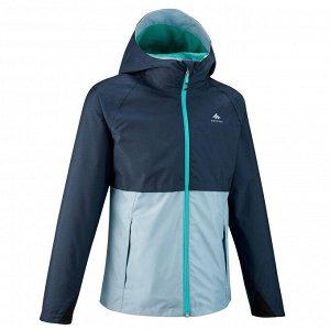 Куртка водонепроницаемая для походов для детей 7–15 лет синяя MH500 QUECHUA
