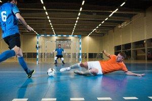 Футболка для футзала мужская оранжевая IMVISO
