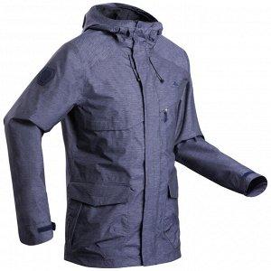 Куртка водонепроницаемая для походов на природе мужская NH550 Imper QUECHUA
