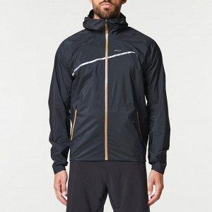 Куртка водонепроницаемая для трейлраннинга мужская черная evadict