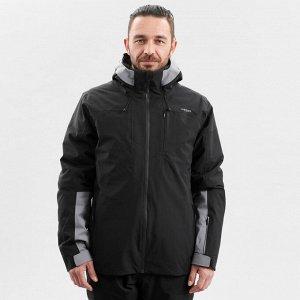 Куртка лыжная для трассового катания мужская черная 500 wedze