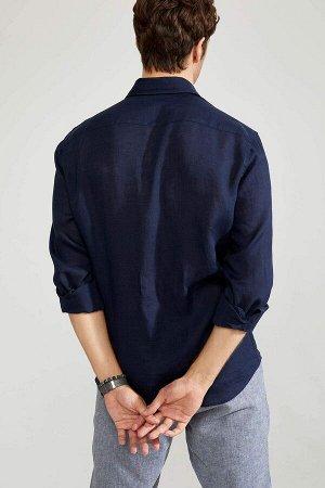 рубашка Размеры модели: рост: 1,89 грудь: 100 талия: 81 бедра: 97 Надет размер: M Keten 100%