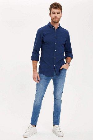 рубашка Размеры модели: рост: 1,88 грудь: 106 талия: 85 бедра: 99 Надет размер: L  Хлопок 70%,Elastan 5%, Полиэстер 25%