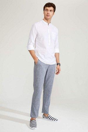 брюки Размеры модели: рост: 1,82 грудь: 98 талия: 81 бедра: 96 Надет размер: размер 30 - рост 30  Хлопок 50%,Keten 50%