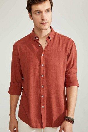 рубашка Размеры модели: рост: 1,88 грудь: 98 талия: 82 бедра: 95 Надет размер: M  Вискоз 67%,Keten 33%