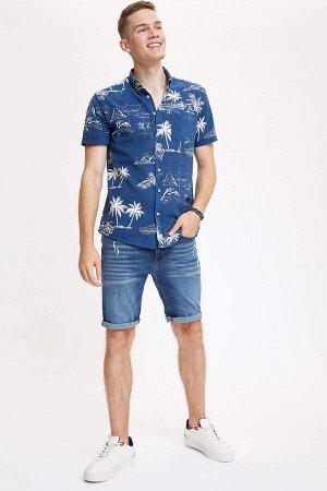 рубашка Размеры модели: рост: 1,88 грудь: 98 талия: 82 бедра: 95 Надет размер: L  Хлопок 100%