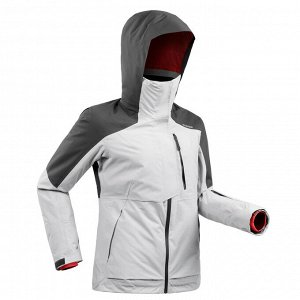 Куртка лыжная для фрирайда женская серая JKT SKI FR100 WEDZE