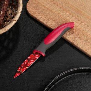 """Нож кухонный с антиналипающим покрытием 8 см """"Вишенки"""""""