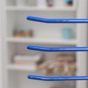 Вешалка для брюк 3-х уровневая Доляна, антискользящее покрытие, цвет МИКС