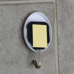 Набор крючков на липучке «Абстракция», 3 шт, цвет МИКС