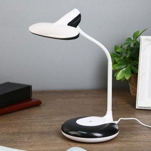 """Лампа настольная """"Пронто"""" 2 режима LED 7Вт 3000-6000К белый-черный 13х15х38 см."""