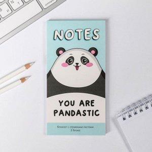 Блокнот с отрывным блоком Notes you are pandastic, 8 х 15,7 см