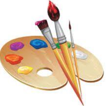 Рельефная канцелярия школа. — Кисти и краски — Домашняя канцелярия