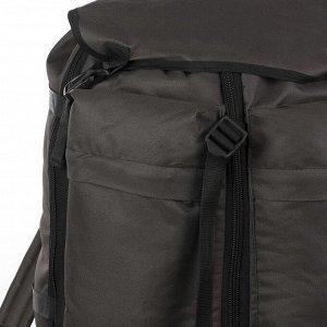 Рюкзак туристический, 55 л, отдел на шнурке, с расширением, наружный карман, цвет хаки