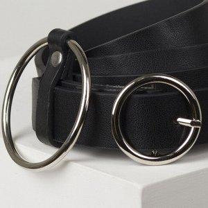 Ремень женский, ширина 2,2 см, винт, пряжка металл, цвет чёрный