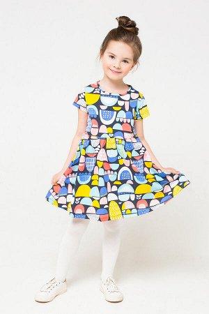 Платье(Осень-Зима)+girls (цветные холмики к1254)