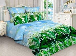"""Комплект постельного белья 2-спальный, бязь """"Люкс"""" (Первоцветы 3 D)"""