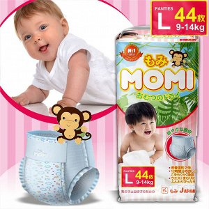 MOMI трусики L (9-14 кг), 44 шт