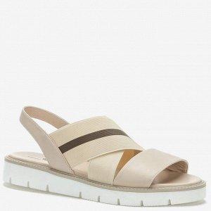 807105/08-02 бежевый иск.кожа/текстиль женские туфли открытые