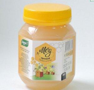 Мед Луговой 500гр пластик Мед натуральный пчелиный цветочный
