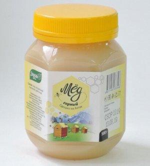Мед Горный 500гр пластик Мед натуральный пчелиный цветочный