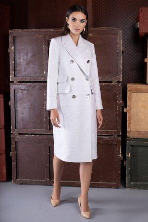 Пальто Пальто ЮРС 20-231/2 молочный  Состав ткани: ПЭ-66%; Спандекс-4%; Шерсть-30%;  Рост: 164 см.  Классическое, изысканное пальто просто идеально подойдет женщинам, которые предпочитают универсальн