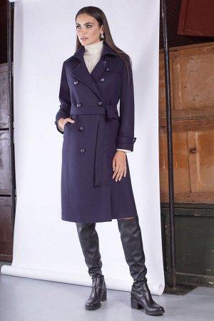 Пальто Пальто ЮРС 20-417/1 синий  Состав ткани: ПЭ-40%; Шерсть-23%; Акрил-37%;  Рост: 164 см.  Стильное и невероятно эффектное пальто, будет выгодно выделять вас из толпы и подчеркивать ваш уникальны