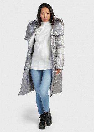 """Куртка зимн. 2в1 """"Эльзас"""" для беременных; стальной"""