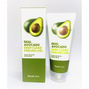 Пилинг-гель с экстрактом авокадо Farm Stay Real Deep Clear Peeling Gel #Avocado