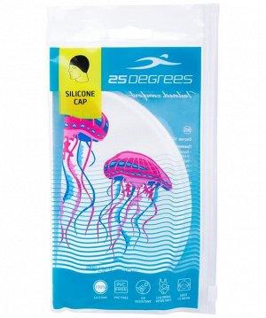 Шапочка для плавания  25DEGREES 25D15-ME01-20-30-1 Meduza, силикон, подростковый