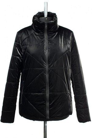 04-2544 Куртка демисезонная (синтепон 100) Плащевка черный